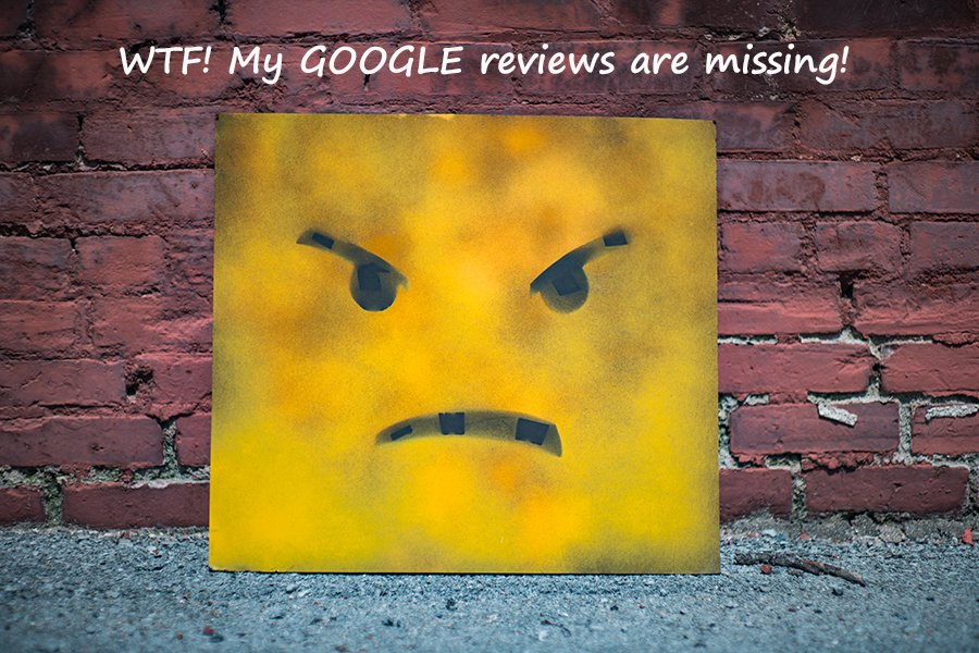 Missing Google reviews!